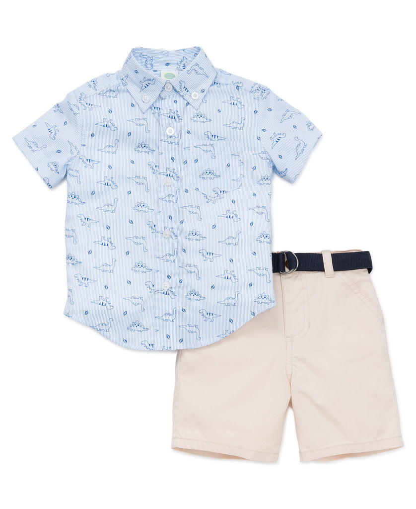 Set (2) - Little Me Dino Top & Shorts PO05415T