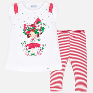 Set (2) - Mayoral Top & Leggings Doll Azalea Pink 3707