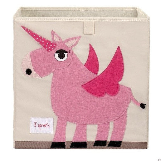 Pink Unicorn Storage Box 3 Sprouts