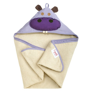 Hooded Towel 3 Sprouts Purple Hippo