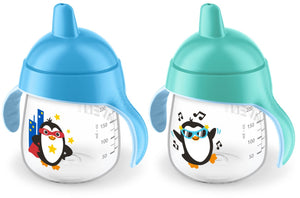 Avent - My Little Sippy Cup 2pck 9oz BlackTeal