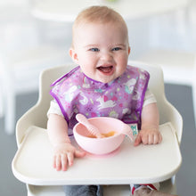 Bumkins Silicone First Feeding Set w/ Lid & Spoon - Pink