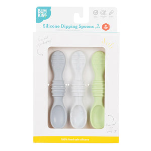 Bumkins Silicone Dipping Spoons 3pk - Taffy
