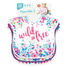 Bumkins Superbib - 3 pck Wild&Free/WatercolourFlower