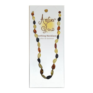 Amber Glow - 100% Baltic Amber Teething Necklace Bean