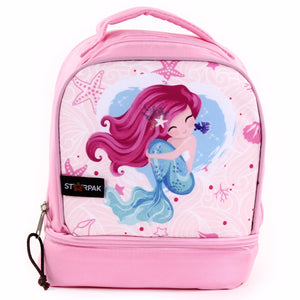 "Dual Lunch Bag  9"" - Mermaid Pink"