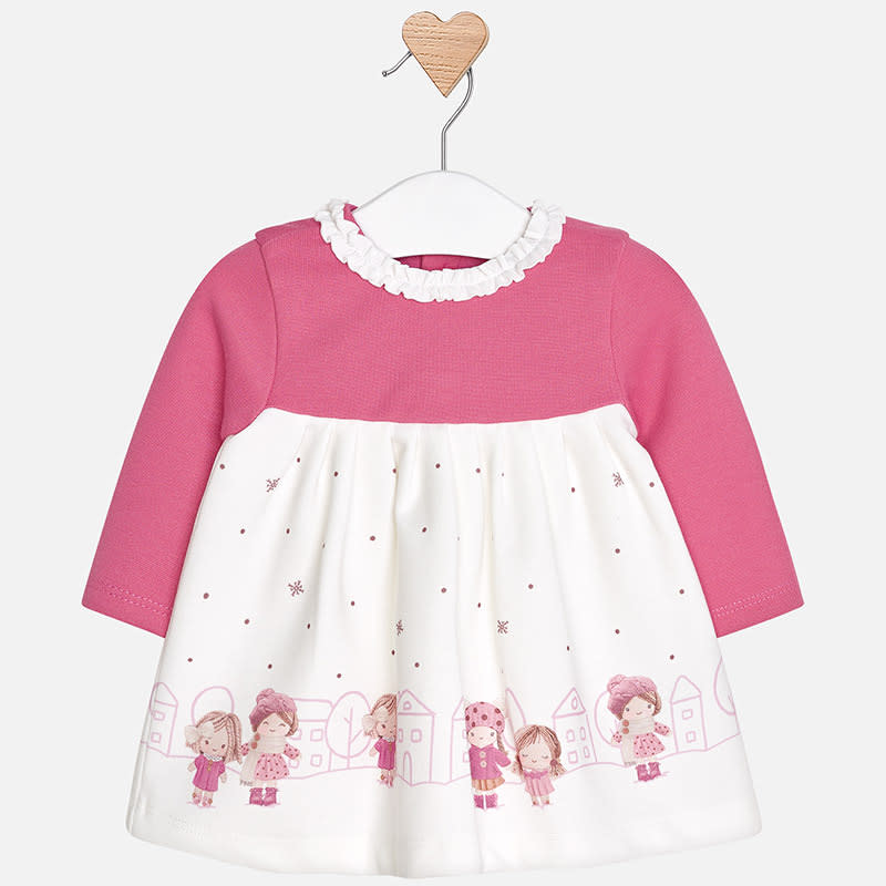 Baby Dress L/S Mayoral Orchid 2858