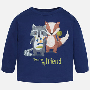 Baby Boy T-Shirt L/S Mayoral Friends Blue