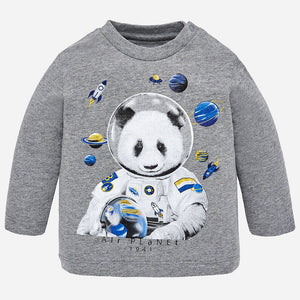 Baby Boy T-shirt L/S Mayoral Astronaute Grey