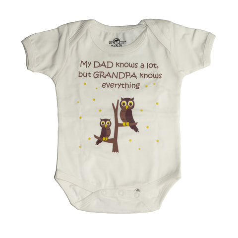 Organic Onesie - Grandpa Knows Everything