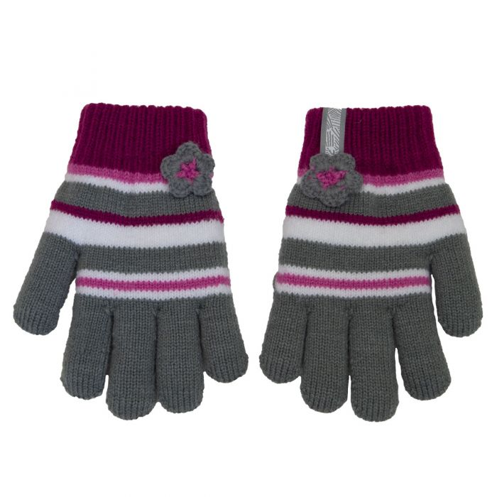 Knitted Gloves - Calikids W1944 Grey