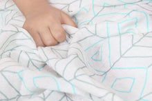 2 Pack Cotton Muslin Swaddle Blanket Lance & Joy Aqua