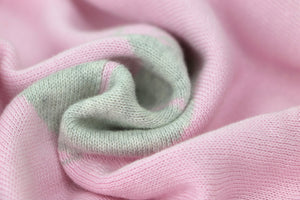 Double Face Knitted Blanket Lance & Joy Pink/Grey