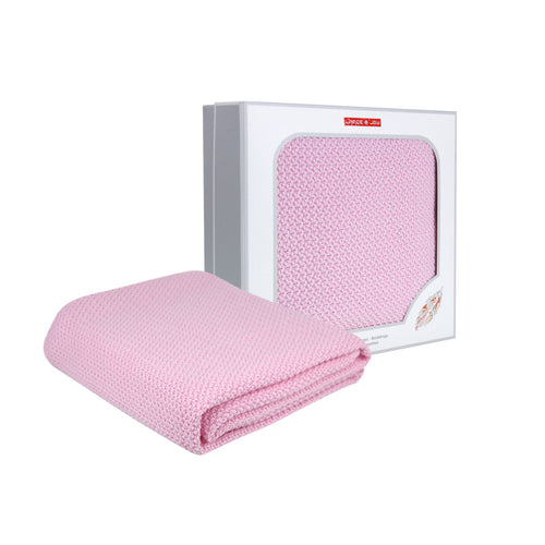 Premium Knitted Throw Blanket Lance & Joy  Pink