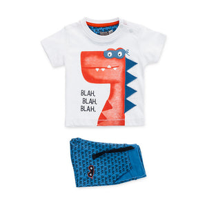 Baby Boy Set (2) - Losan Dino Shirt & Printed Shorts