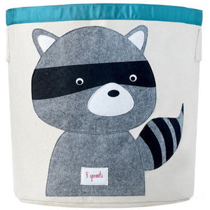 Storage Bin 3 Sprouts Raccoon