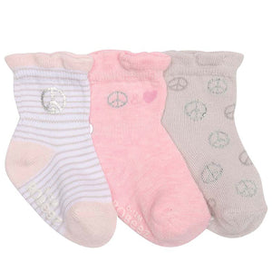Robeez Socks - Baby Girl Peace Sign  (8370)