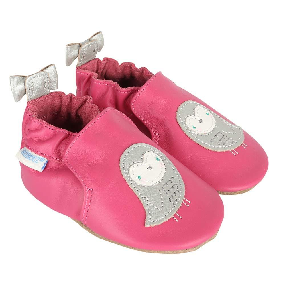 Robeez Soft Soles - Bird Buddies Fuchsia