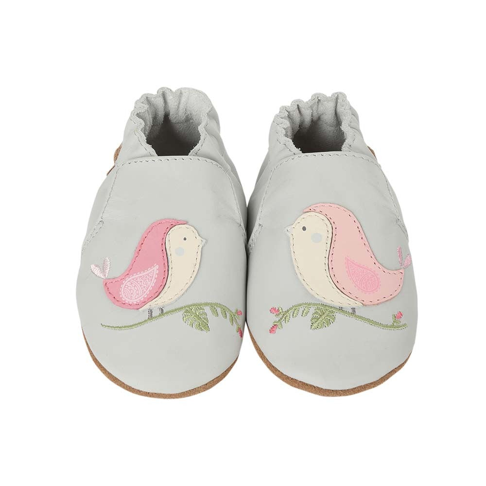 Robeez Soft Soles - Bird Buddies Grey