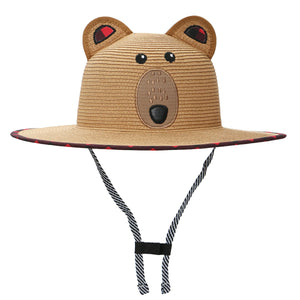 Kids Lifeguard Straw Hat - Bear