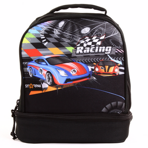 "Dual Lunch Bag  9"" - Racing"