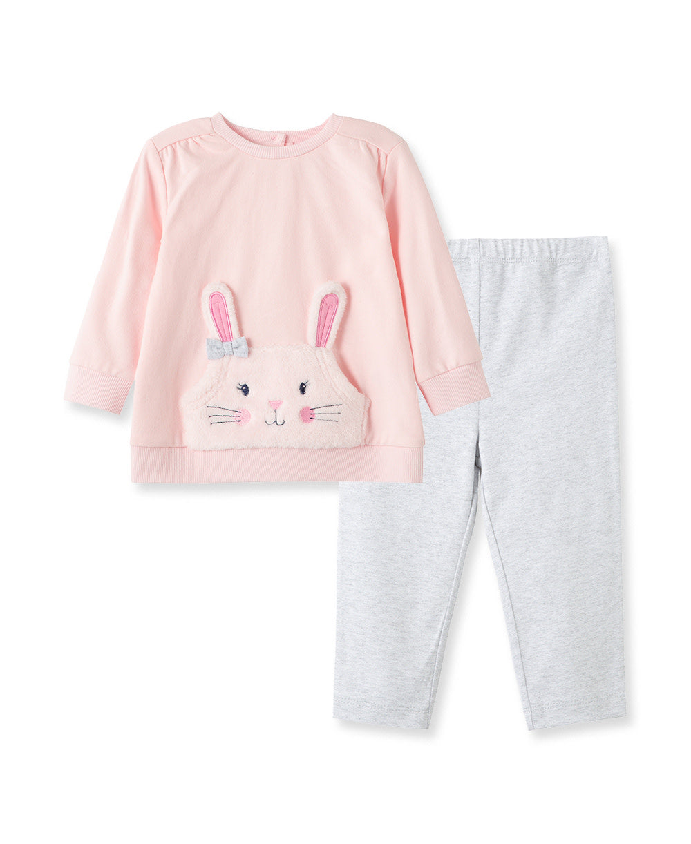 Set (2) - Sweatshirt & Pants Pink Bunny