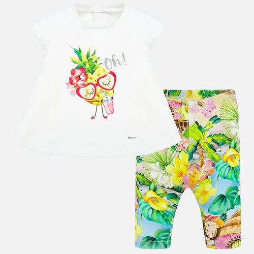 Baby Girl Set (2) -  Top & Leggings Mayoral Pistachio 1709