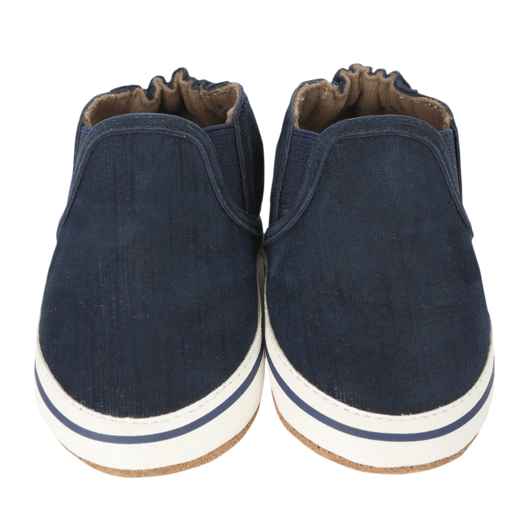 Robeez Soft Soles - Liam Basic Navy