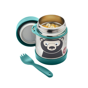 Stainless Steel Food Jar - 3 Sprouts Bear