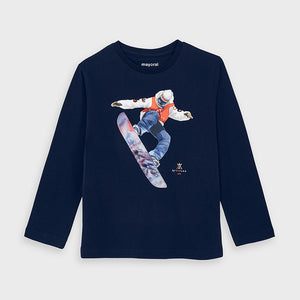 L/S T-shirt - Mayoral Navy 4039