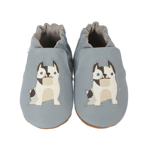 Robeez Soft Soles - Tail Wagger Blue