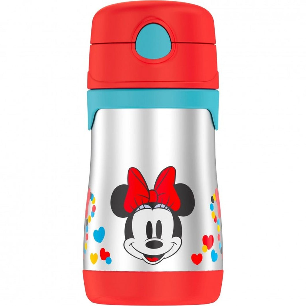 Thermos 10 oz. Stainless Steel Straw Bottle Minnie Mouse