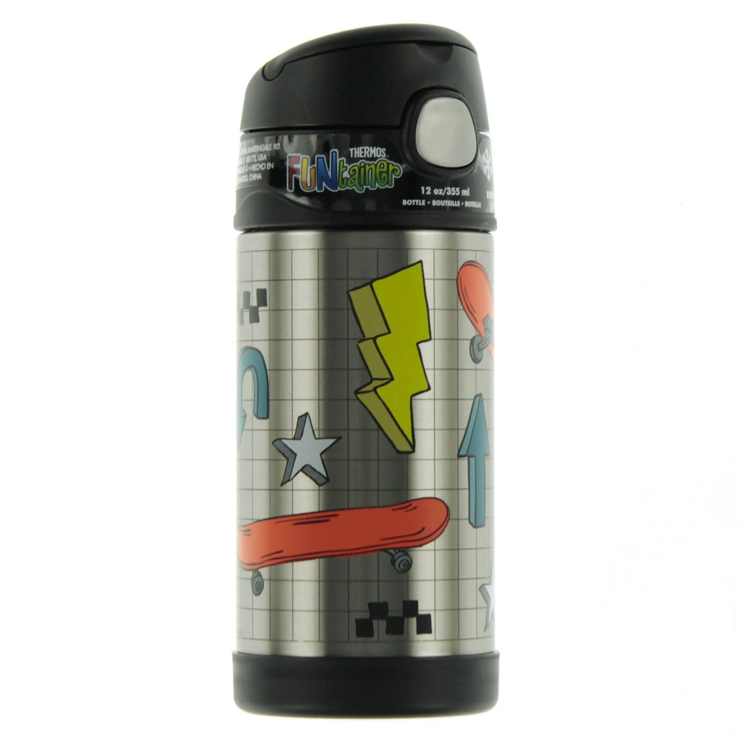 Thermos 12oz Insulated Straw Bottle - Skate