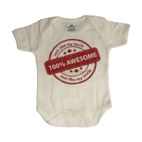 Organic Onesie - Awesome Uncle
