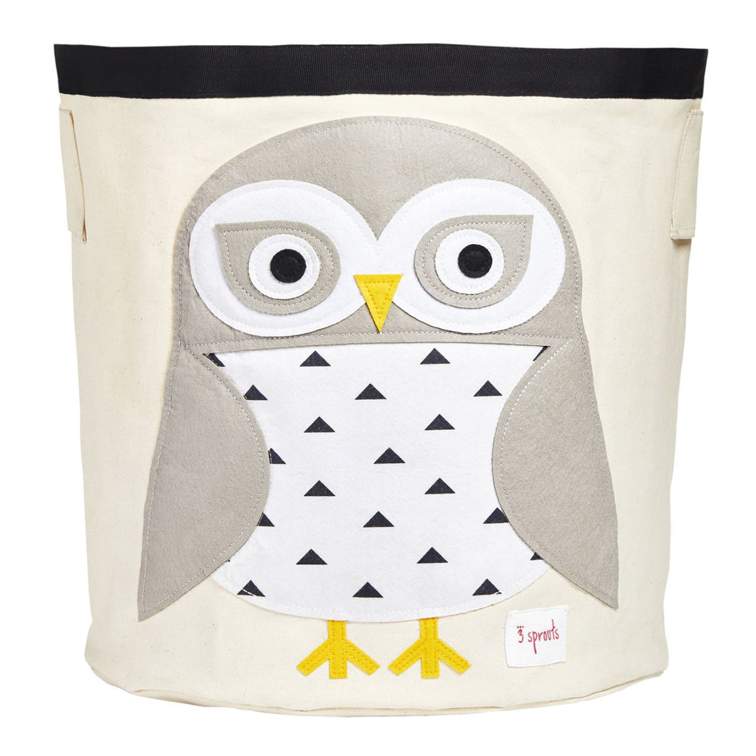 Storage Bin 3 Sprouts White Owl