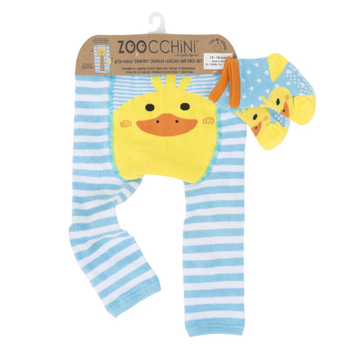 Legging & Sock Set Zoocchini Puddles The Duck 12-18m