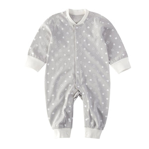 Grey Organic Front Snap Sleeper Lance & Joy