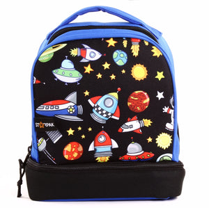 "Dual Lunch Bag  9"" - Outerspace"