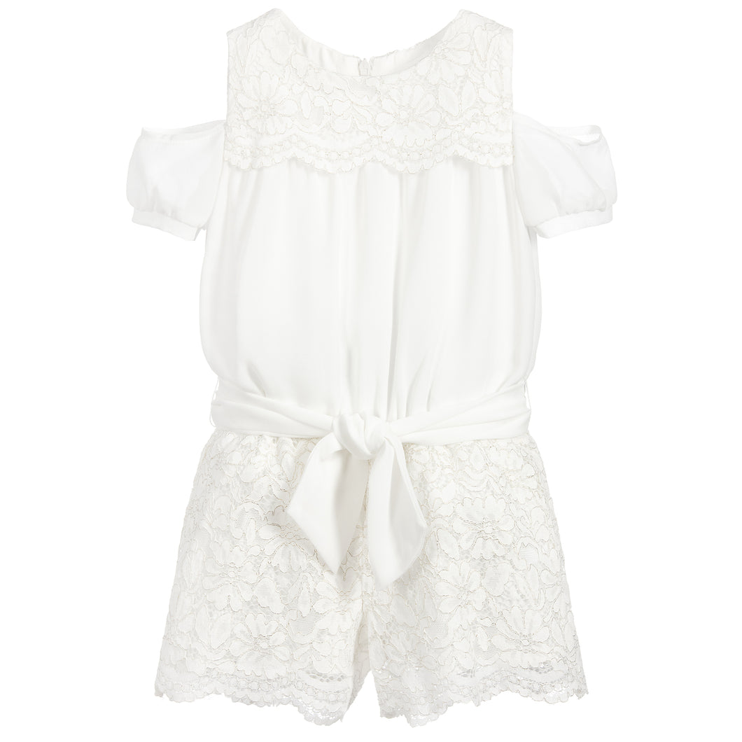 Lace Romper Mayoral Natural 3801