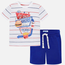 Set (2) - Top & Royal Blue Shorts Mayoral
