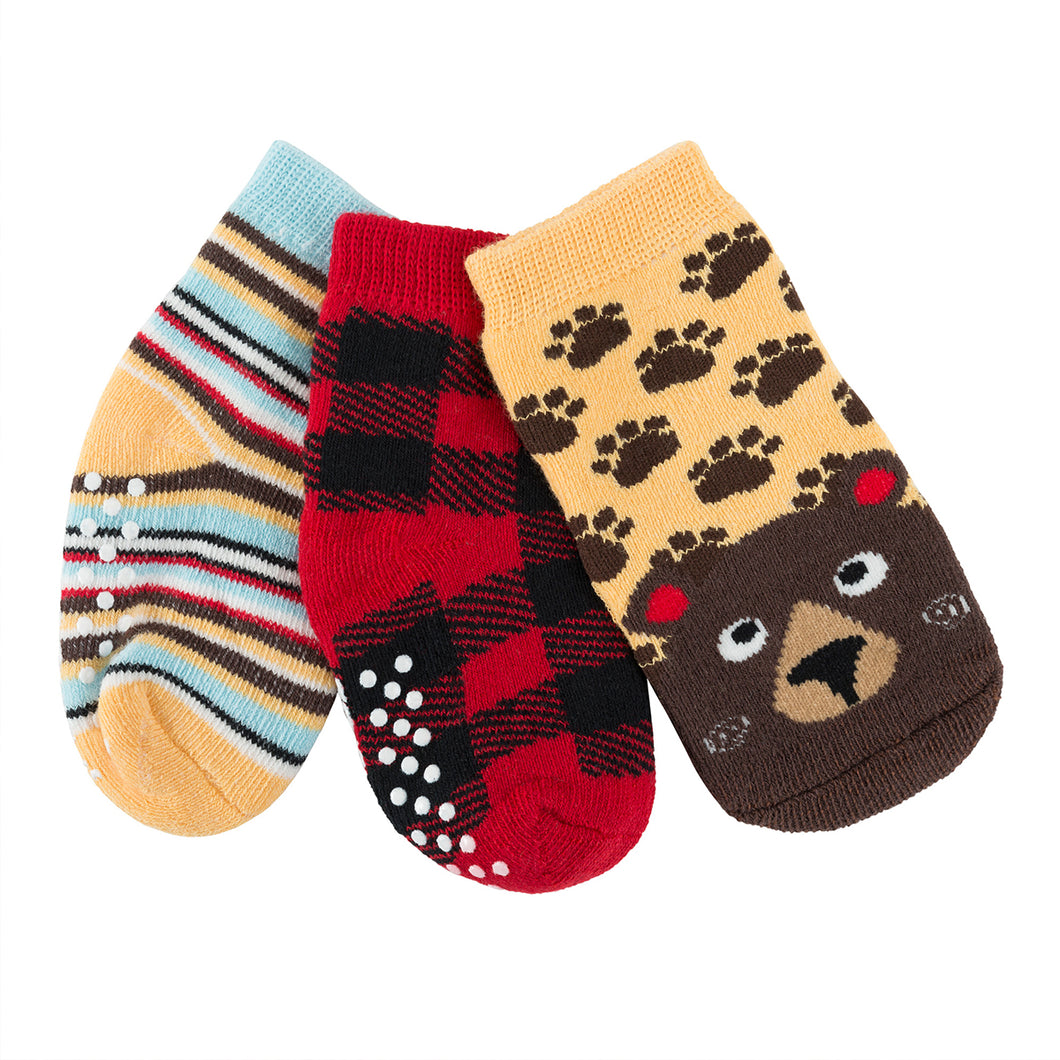 Buddy Baby 3 Pc Socks Set Zoocchini  Bosley the Bear 0-24m