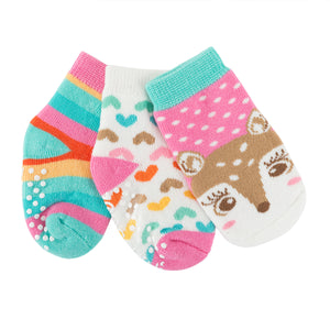 Buddy Baby 3 Pc Socks Set Zoocchini  Fiona the Fawn 0-24m
