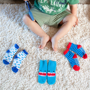 Buddy Baby 3 Pc Socks Set Zoocchini  Shark 0-24m
