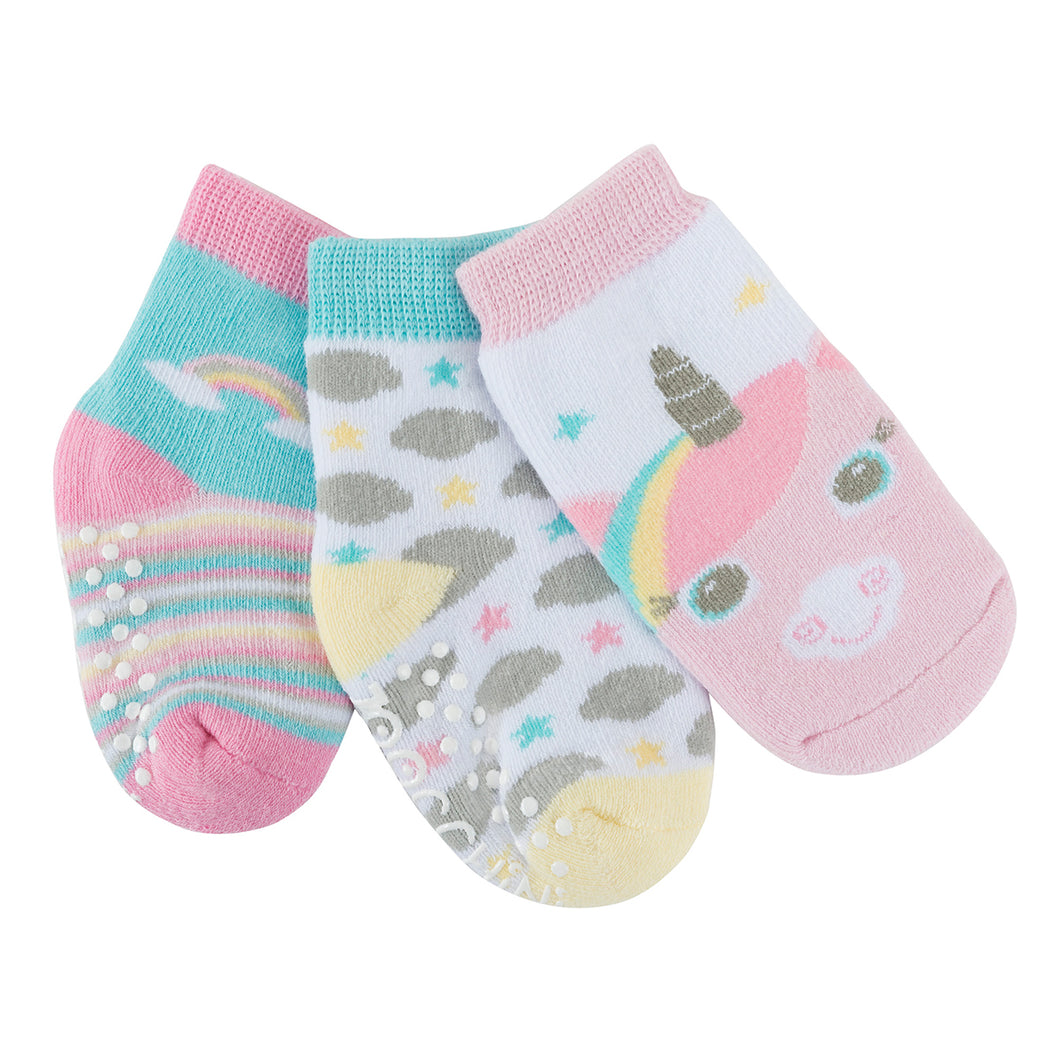 Buddy Baby 3 Pc Socks Set Zoocchini  Allie The Alicorn 0-24m