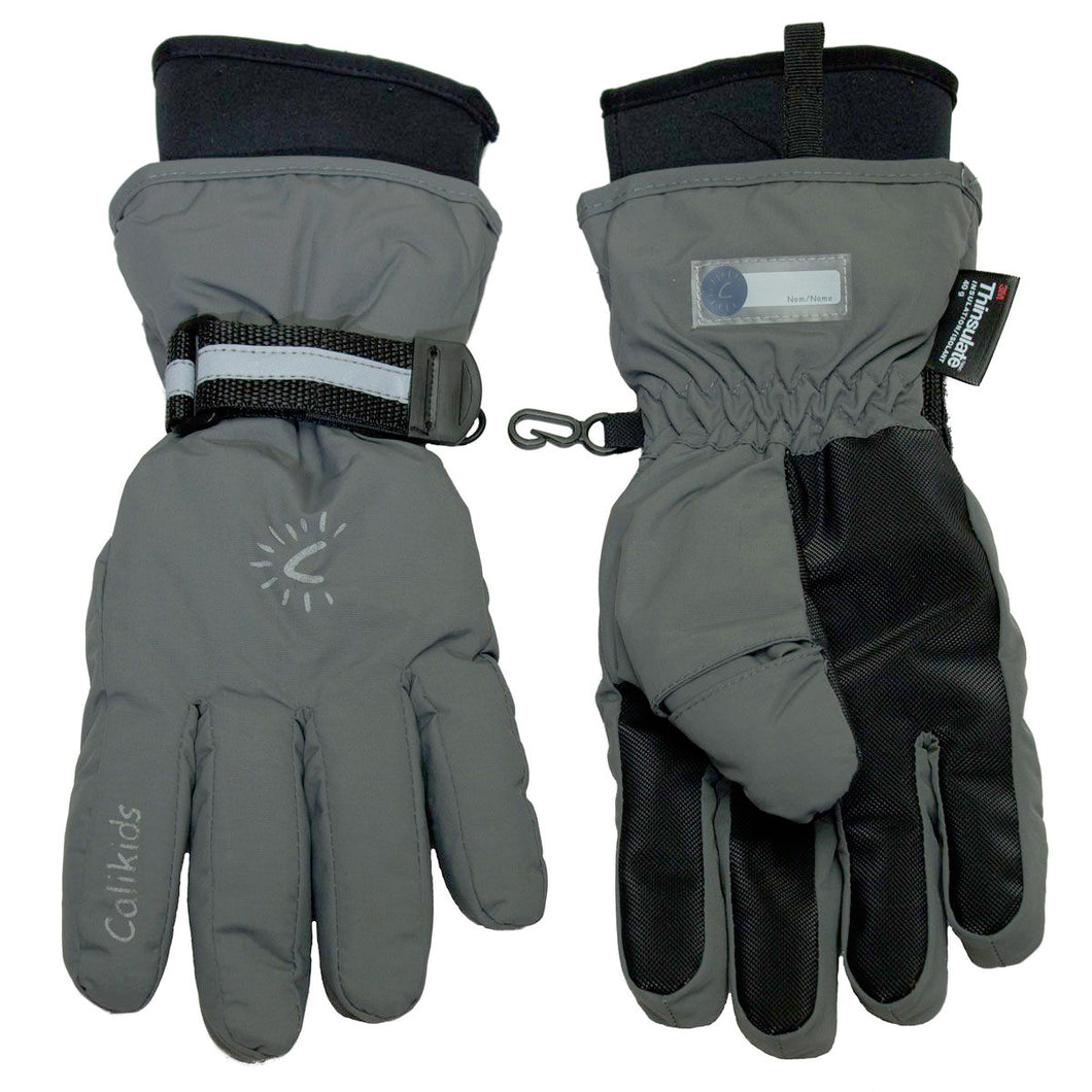 Waterproof Gloves - Calikids W0027 Charcoal