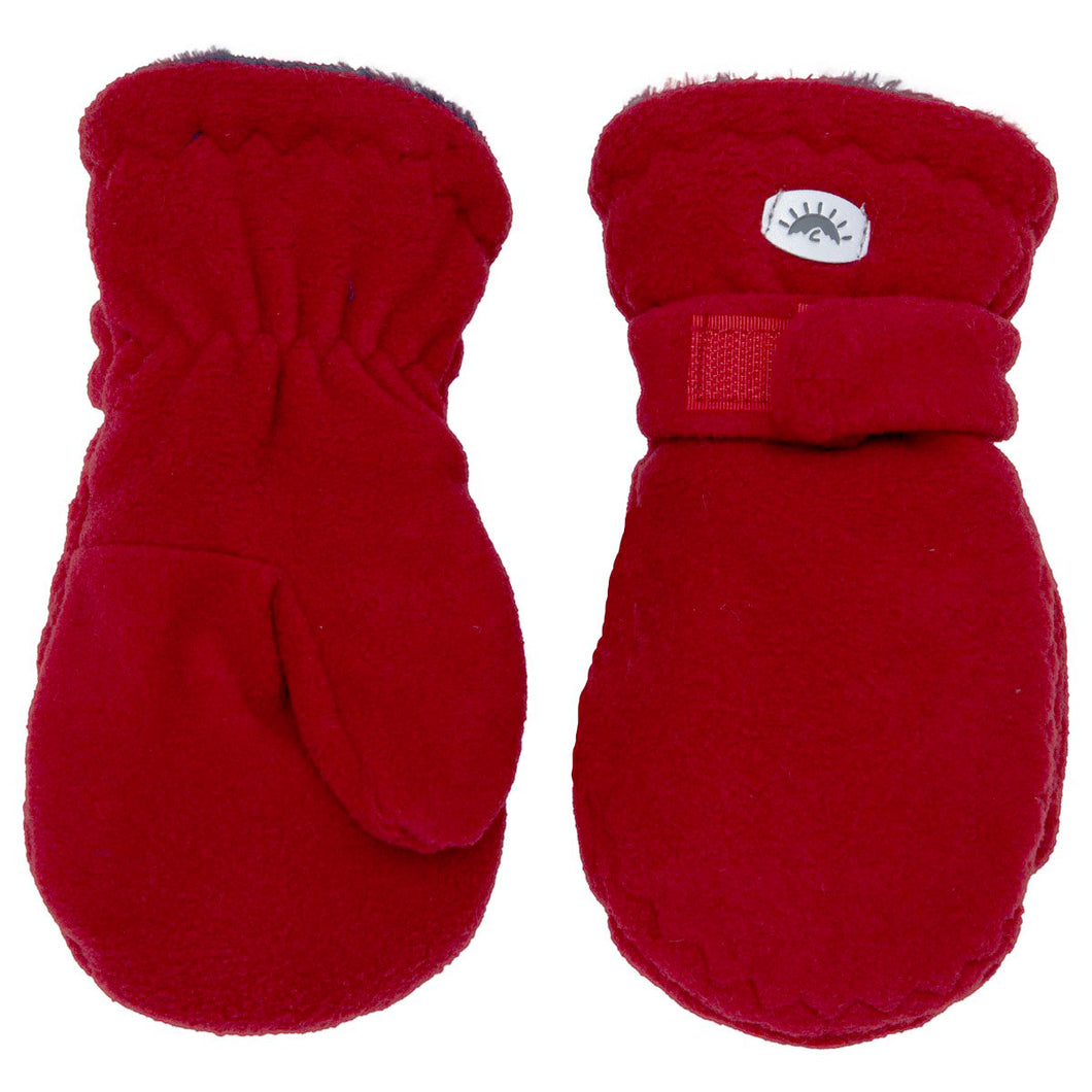 Fleece Mittens - Calikids W08087 Scooter Red
