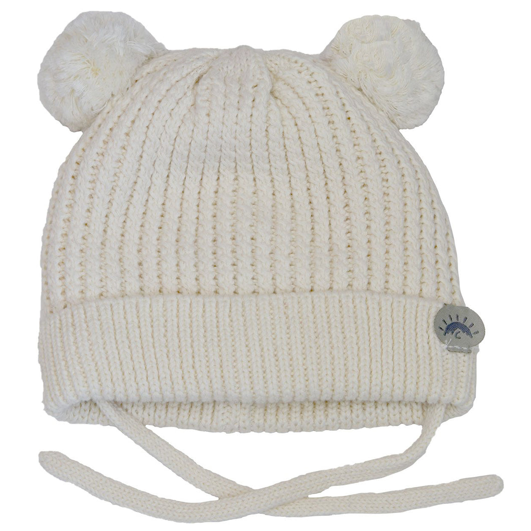 Winter hat - Calikids Knitted W1903  Cream