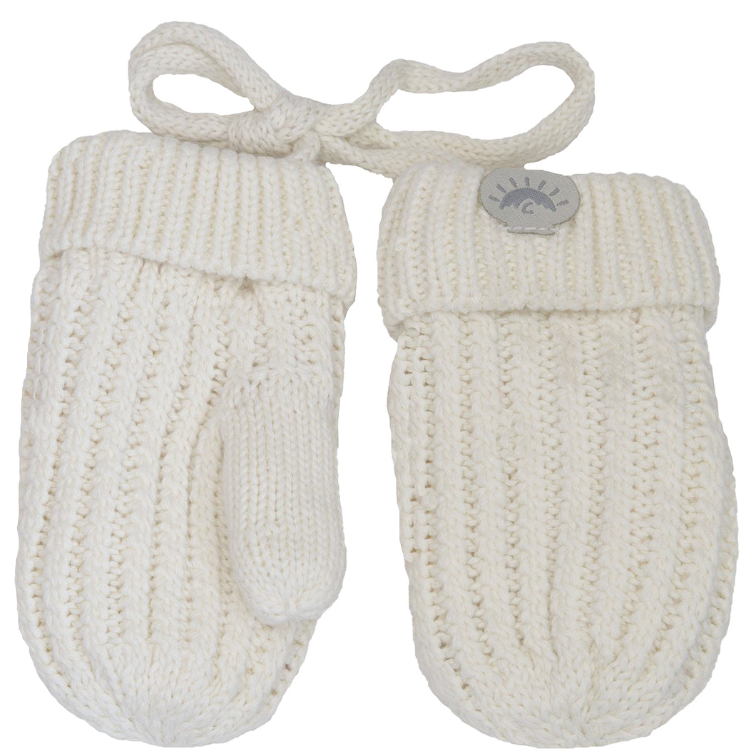 Knitted Mittens - Calikids W1953 Cream