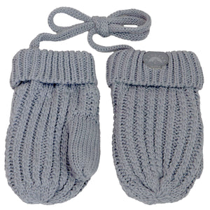 Knitted Mittens - Calikids W1953 Grey 9-18m