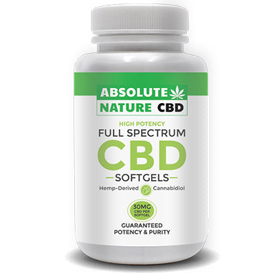 CBD Liquid Oil Softgels - Full Spectrum - 900mg